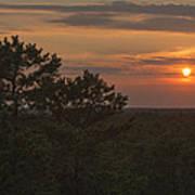 Pine Barrens Sunset Nj Poster