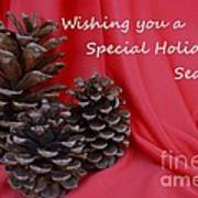 Pine Cones For The Holidays Poster