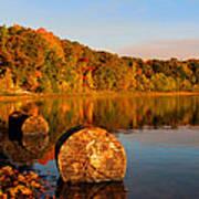 Pine Lake Reflection 3 Poster