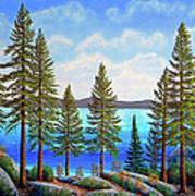 Pine Woods Lake Tahoe Poster