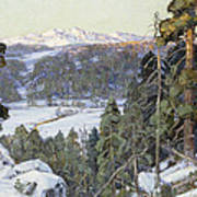 Pines In Winter Poster by George Gardner Symons