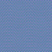 Pink And Blue Chevron Poster