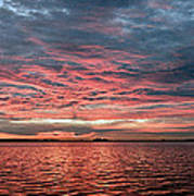 Pink And Grey At Sea - Sunrise Panorama  Poster