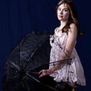 Pink Baby Doll N Parasol Poster