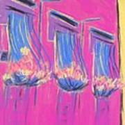 Pink Balcony Poster by Marcia Meade