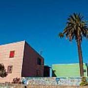 Pink Building In Historic Neighborhood Poster
