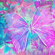 Pink Butterfly By Jan Marvin Poster