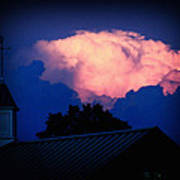 Pink Cloud Over Lexington Poster
