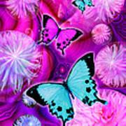 Pink Fantasy Flower Poster