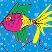 Pink Fish Poster