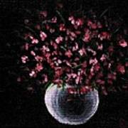Pink Flowers In Vase  Poster