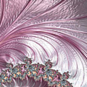 Pink Froth A Fractal Abstract Poster