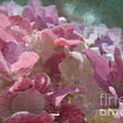 Pink Hydrangea Photoart I Poster