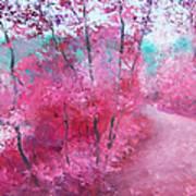 Pink Landscape Poster