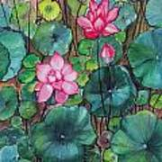 Pink Lillies Poster