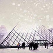 Pink Louvre Paris Poster