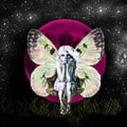 Pink Moon Fairy Poster by Diana Shively