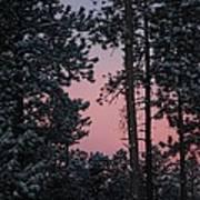 Pink Mountain Morning Poster