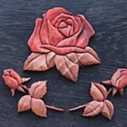 Pink My Lady Rose Poster by Bill Fugerer