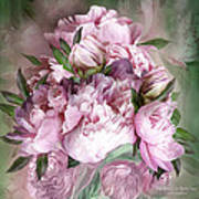 Pink Peonies Bouquet - Square Poster