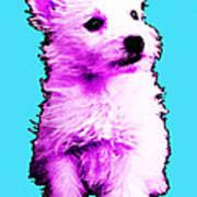 Pink Westie - West Highland Terrier Art By Sharon Cummings Poster