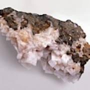 Pink-white Chabazite In Basalt Groundmass Poster