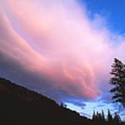 Pink Yellowstone Sunset Poster