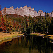 Pinnacle Buttes On Brooks Lake Creek Rocky Mountains Poster