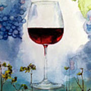 Pinot From Vine To Glass II Poster