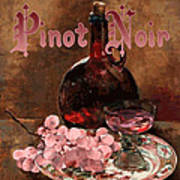 Pinot Noir Vintage Advertisement Poster by