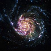 Pinwheel Galaxy Rainbow Poster
