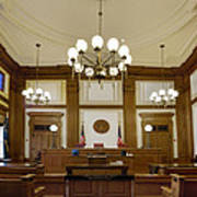 Pioneer Courthouse Courtroom In Portland Oregon Downtown Poster