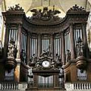 Pipe Organ In St Sulpice Poster