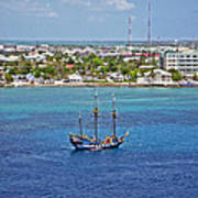 Pirate Ship In Cozumel Poster