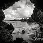 Pirate Treasure Cave Pa'iloa Beach Poster