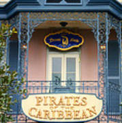 Pirates Signage New Orleans Disneyland Poster