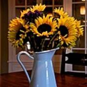 Pitcher Of Sunflowers Poster