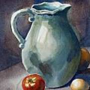 Pitcher With Tomato Poster by Pablo Rivera