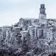 Pitigliano  Stands On An Abrupt Tuff Butte High Above The Olpeta Poster