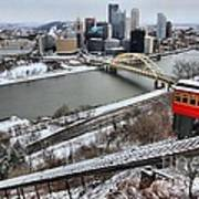 Pittsburgh Duquesne Incline Winter Poster