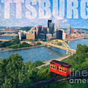 Pittsburgh Digital Painting Poster
