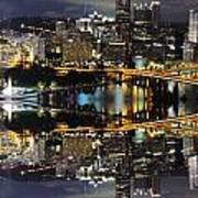 Pittsburgh Dusk Reflection 2 Poster
