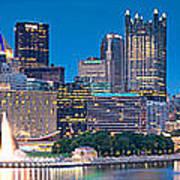 Pittsburgh New 2  Poster by Emmanuel Panagiotakis