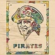 Pittsburgh Pirates Vintage Art Poster