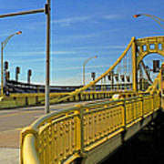 Pittsburgh - Roberto Clemente Bridge Poster by Frank Romeo