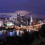 Pittsburgh Skyline At Night From Mount Washington 3 Poster