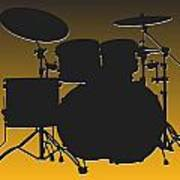 Pittsburgh Steelers Drum Set Poster