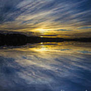 Pittwater Sunset Abstract Poster