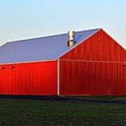 Plain Jane Red Barn Poster