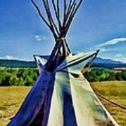 Plains Tribes Teepee Poster